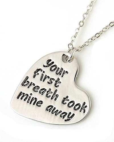 Images Hello Kitty Costume (Fashion Jewelry ~ Your First Breath Took Mine Away Small Pendant Necklace)