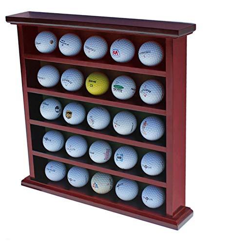 DisplayGifts Golf Ball Display Case Wall Rack Cabinet, NO Door, GB25 - Design Case Golf Ball