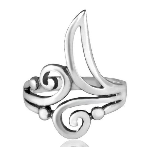 silver scroll ring - 2