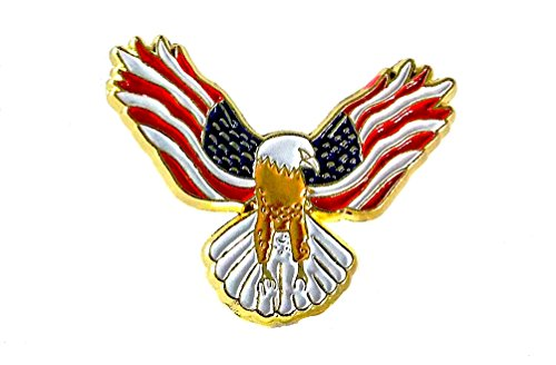 Eagle with USA Flags On Its Wings Patriotic Lapel Hat Pin PPM808
