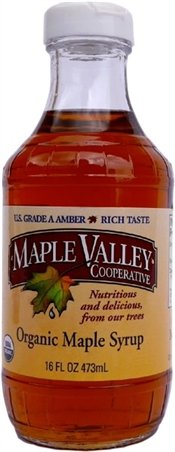 Maple Valley 16 Oz. Coordinated Maple Syrup - Grade A Amber Rich in Glass Decanter