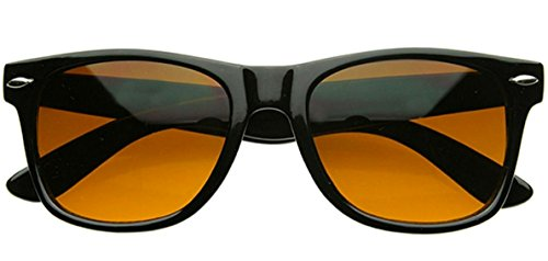 20a0685942a WebDeals - Blue Blocking Driving Sunglasses Amber Tinted Lens (Black Frame)  - Buy Online in Oman.