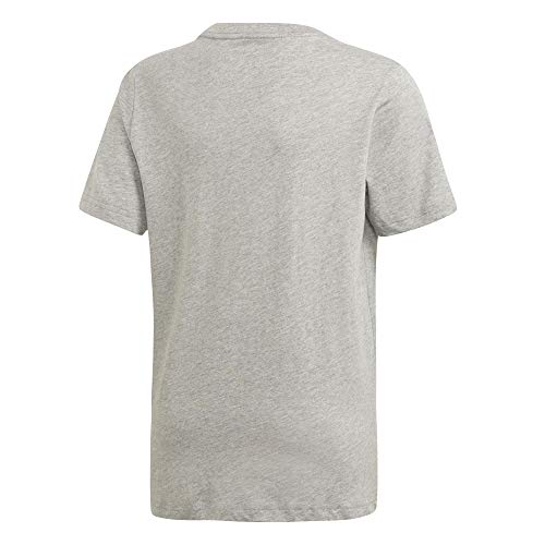 Bambino shirt Grey nero Heather Adidas Medium T Maglietta Linear Essentials 1WqgP
