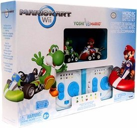 Wii Exclusive Interactive R/C Battle Set 2 Pack Mario Yoshi (Mario Kart Radio)