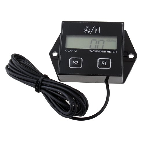 KEDSUM Hour meter Tachometer 2 & 4 Stroke Small Engine Spark For Boat Outboard Mercury (Outboard Motor Battery Cables)
