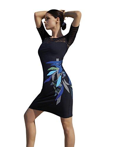 Sunflair 23363-5 Women's City & Beach Black Solid Colour Kaftan Beach Dress