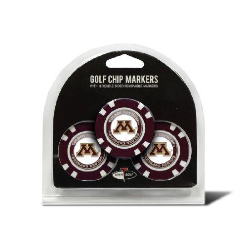 Minnesota Golden Gophers Golf Ball - NCAA Minnesota Golden Gophers 3 Pack Golf Chip Ball Markers
