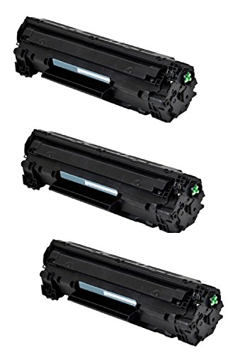 - Compatible Black Laser Toner Cartridge compatible with HP Laserjet CE285A (85A) P1102W, M1130, M1210-3Pack