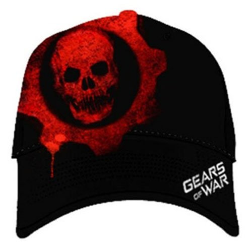 (Gears of War Baseball Cap Red Skull Style)