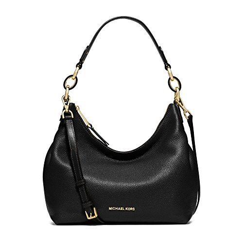 MICHAEL MICHAEL KORS Isabella Large Leather Shoulder Bag (Black) (Handbag Isabellas Shop)