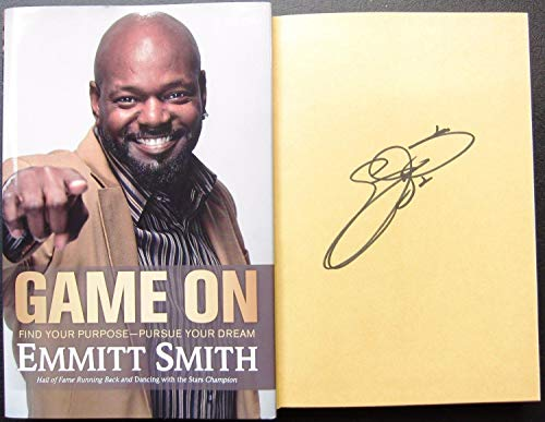 Emmitt Smith Autographed Signed Book Game On Cowboys 1st Print Signature - Beckett Authentic Dallas Cowboys Games Online