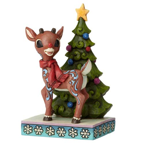 Department56 Enesco Jim Shore Traditions 6001595 Rudolph Standing by Tree Figurine