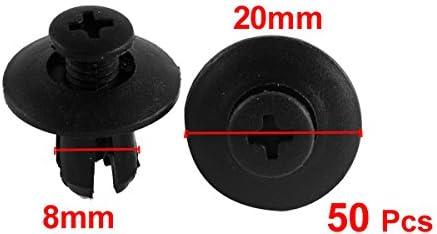 uxcell 50 Pcs Black Plastic Car Trim Clips Rivet Fastener