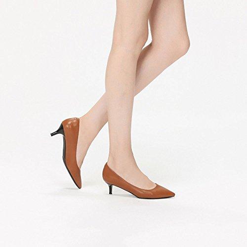 Hauts Femmes Chaussures Danse Verres pour Généreux brown Talons Vin Élégant à qqOUrtx
