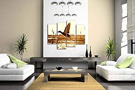 Brown Duck Fly Upon River Wall Art Painting Pictures Print On Canvas Animal The Picture For Home Modern Decoration First Wall Art 8217964