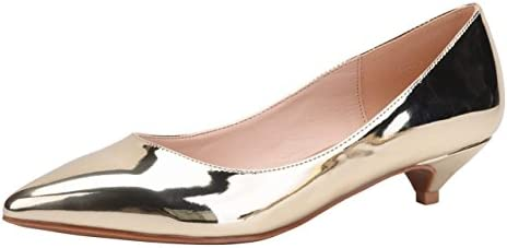 9bc70285628b2 Womens Classic Pointed Toe Slip On Dress Shoes Low Heel Pumps ...