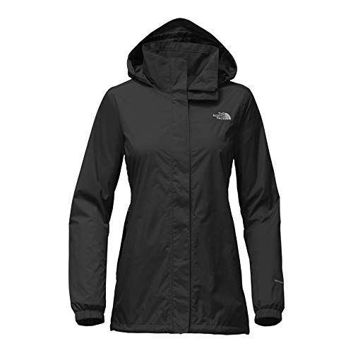 The North Face Women's Resolve Parka - TNF Black & Foil Grey - XL (Light North Face Jacket Mountain)
