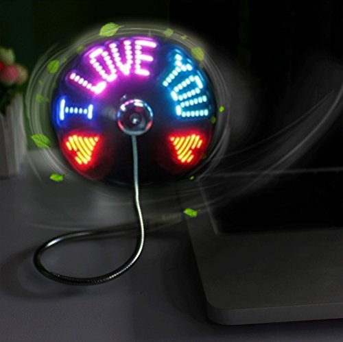 BicycleStore LED Programmable USB Fan Mini Portable Flexible Colorful Cooling Fan for Desktop Computer Notebook PC Silver (Small Fan Colorful compare prices)