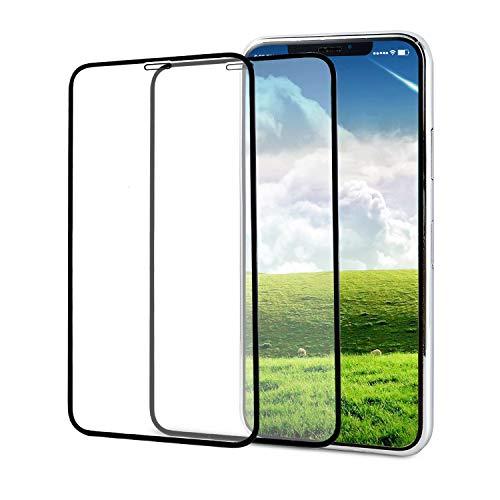 - 2PEC YRMJK iPhone Xs MAX Screen Protector,3D Touch Full Coverage Titanium Metal Edge More Fashion Tempered Glass [ Edge to Edge Protection ][Tempered Glass x 2][2018]