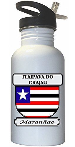 itaipava-do-grajau-maranhao-city-white-stainless-steel-water-bottle-straw-top