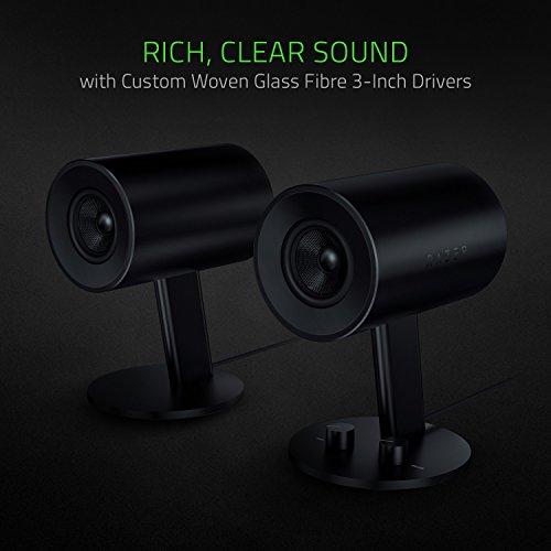 Razer Nommo - Computer Speakers, Rear Bass Ports for Full Range Gaming & Sound Immersion - Custom Woven Glass Fiber 3'' Drivers by Razer (Image #2)