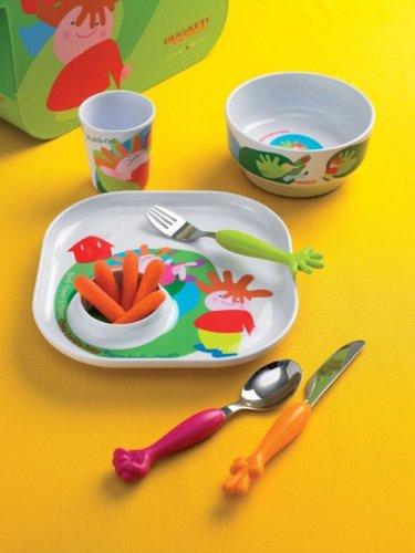 Bugatti Sweet Home - Set de cubiertos y platos para niños (6 ...