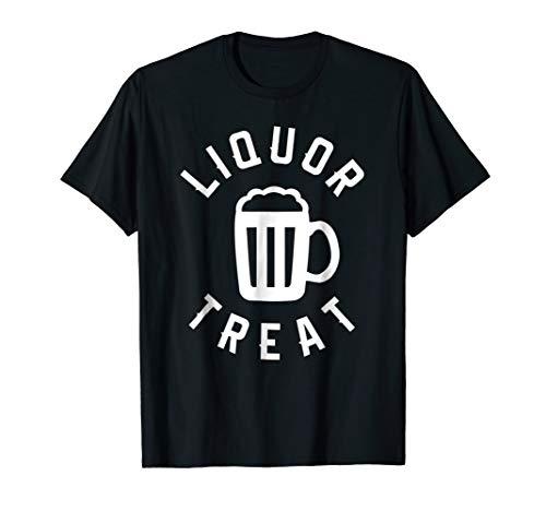 Liquor Treat Halloween Funny Drinking Beer T-Shirt -