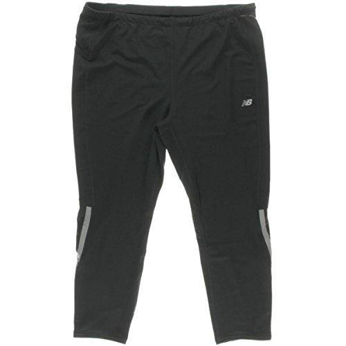 New Balance Womens Plus Reflective Moisture Wicking Pants Black 2XL