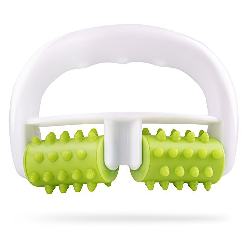 Murlien Cellulite Massager, Anti Cellulite Massage Roller for Muscle Soreness and Remove Cellulite, Body Roller Brush for Shoulder, Arms, Buttocks, Back, Abdomen, Legs and Calves – Green/White