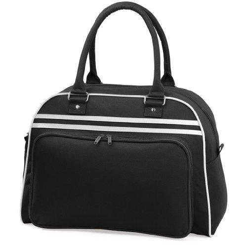 Sporttasche 'Retro Bowling Bag' Black/White