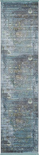 A2Z Rug Dark Gray 2' 7 x 10' Feet Runner St. Tropez Collection Traditional and Modern Area Rugs and Carpet