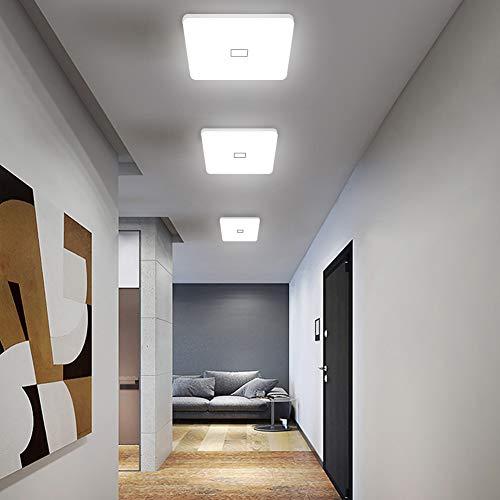 Öuesen 24W imperméable à l'eau LED Plafonnier moderne mince carré LED Lampe de plafond 2050lm Blanc froid 5000K Applicable à la salle de bain la chambre la cuisine le salon le balcon et le couloir