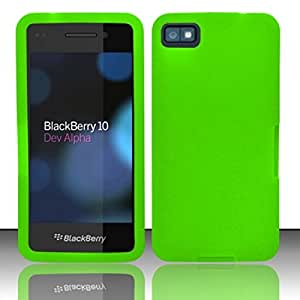 For Blackberry 10 Silicone Skin Case Cover - Neon Green