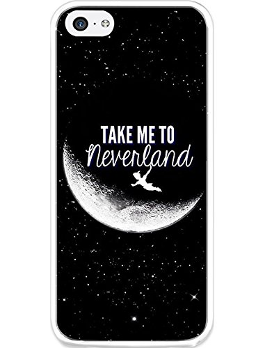 Case Snap on iPhone 5c Take Me to Neverland (Iphone 5c Cases That Have Quotes)