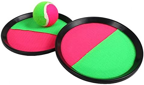Amazon Com Monkeyjack Toss Catch Game Kids Sticky Target Ball Throw Chuck Ball Toy Sports Set For Kids Handheld Stick Disc Paddles With Ball Outdoor Games Toys Games
