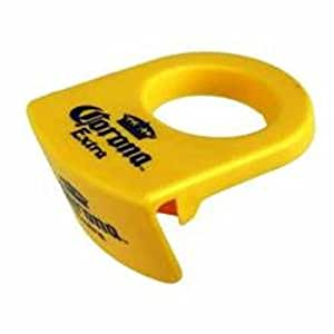 Coronarita Drink Clips - For Margarita Glasses Includes a Bonus Free Corona Bottle Opener - Pack of 6
