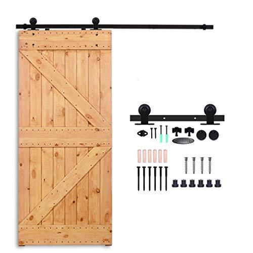 Nylon Single Panel - CCJH 4ft Sliding Barn Wood Door Hardware Kit - Fit 24