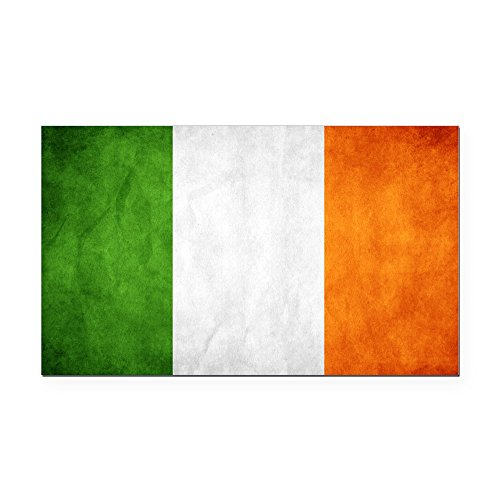 CafePress - Antiqued Irish Flag Rectangle Car Magnet - Rectangle Car Magnet, Magnetic Bumper Sticker ()