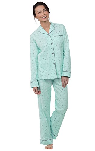 PajamaGram Womens PJs Sets Soft - Pajama Sets for Women Cotton, Mint, S, 4-6 ()