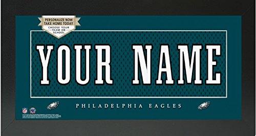 Philadelphia Eagles NFL Custom Jersey Nameplate Framed Sign