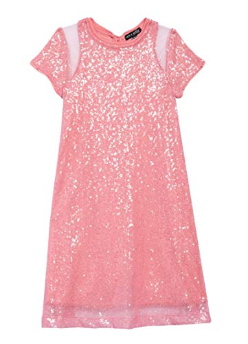 Price comparison product image Ava & Yelly Girls' Sequin Tee Dress w/Mesh L (6) Pink