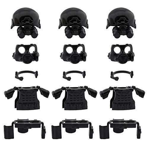 SWAT Armor Kit, Custom Military SWAT Police Armor Compatible Lego Set Minifigure Accessories