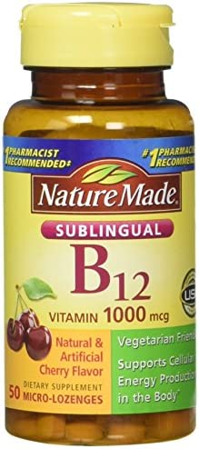 Nature Made Vitamin B-12 1000 MCG Sublingual, 50 Count Pack of 3