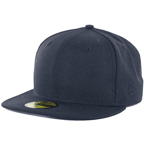 New Era Plain Tonal 59Fifty Fitted Hat (Dark Navy Blue) Men's Blank Cap