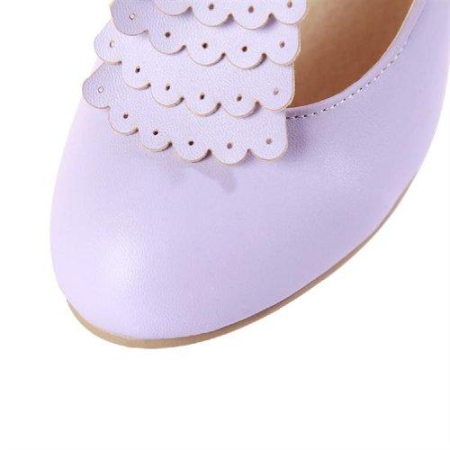 T Jane Womens Strap Fashion Mary Charm Pumps Heel Foot High Shoes Purple SwU8xETx