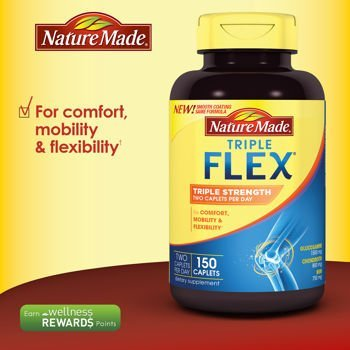 Nature Made TripleFlex - Glucosamine Chondroitin and MSM (Two Bottle of 150 Caplets)