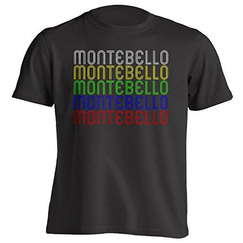 4Ink Retro Hometown - Montebello, CA 90640 - Black - Small - Vintage - Unisex - - Montebello Town