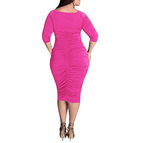 Dress Deep Womens BetterGirl Plus Size Evening Cocktail Rose V Neck TM Sexy Formal rrqwPY5