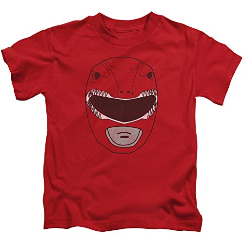 Mighty Morphin Power Rangers Mask (Mighty Morphin Power Rangers Red Ranger Mask Little Boys Shirt Red SM (4))