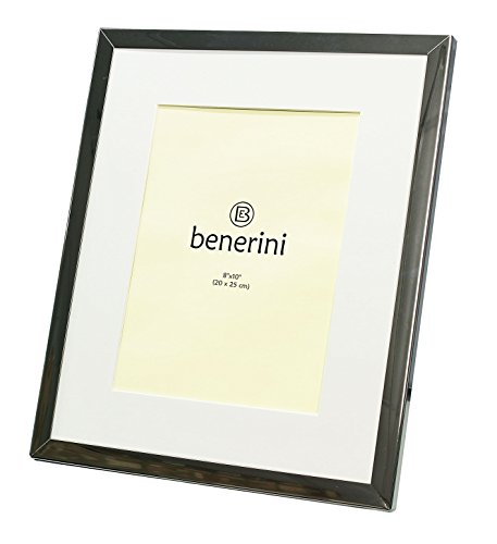 benerini Iron Nickel Plated Shiny Dark Silver Color Photo Fr